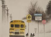 Walnut-Hill-Elementary-School-acquerello-35X50