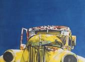 Old Studebaker truck - acquerello 35X50