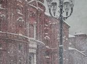Nevicata in P.za Carignano tecnica mista 50X70