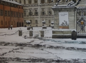 Nevicata in Piazzetta Reale acquerello 50X70